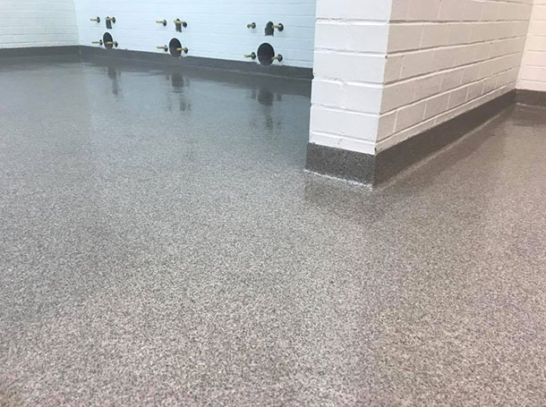 Troweled Epoxy Quartz System